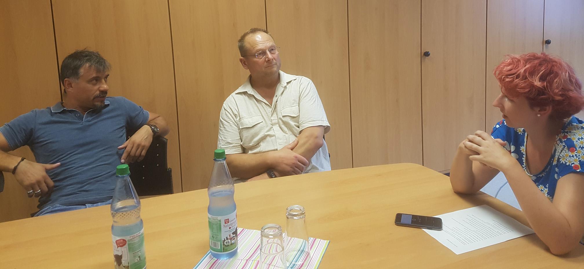 Die Trainer Ben Ljevar und Roland Nixdorf.
